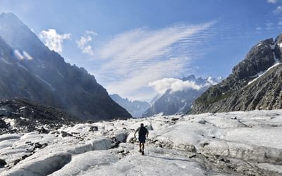 Mer de Glace, towards the Leschaux glacier