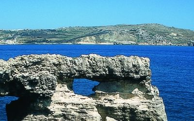 Għemieri with Gozo seen far beyond