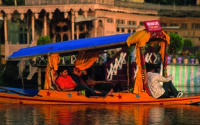 Shikara (gondola) on Dal Lake in Srinagar