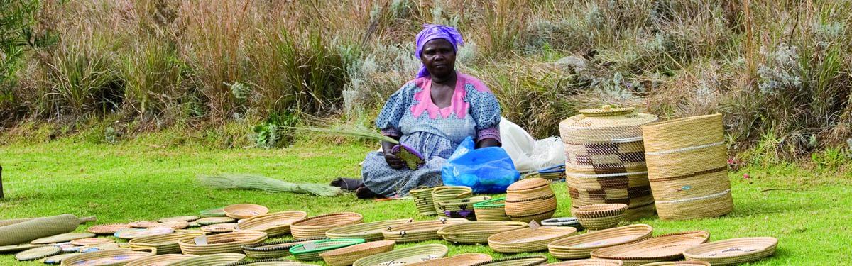 Zulu craft worker