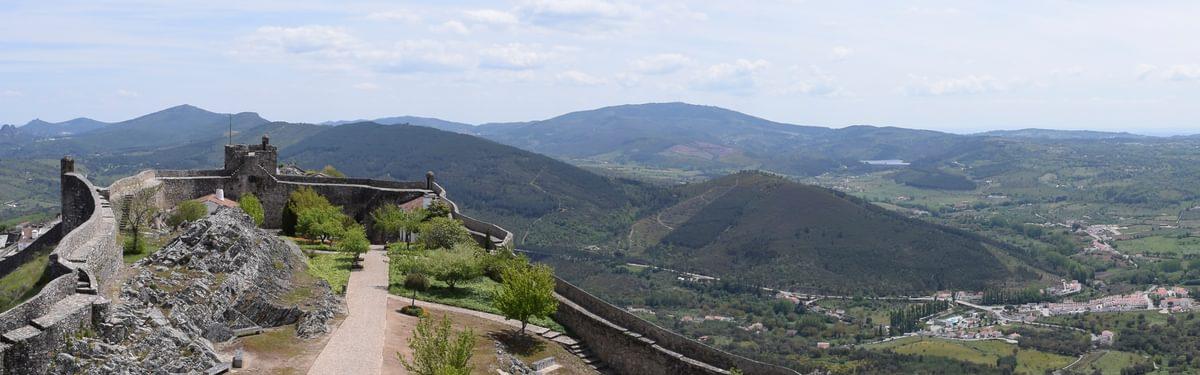 View of Portagem: to the left is Cabeço do Leão