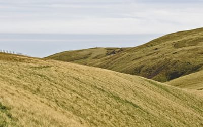 An easy path near Hadrian's Wall on the Pennine Way