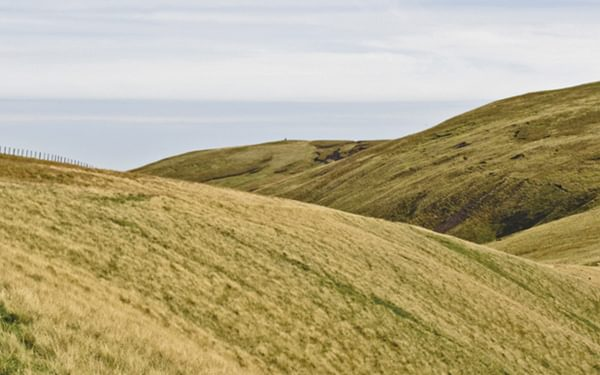 An easy path near Hadrian's Wall on the Pennine Way
