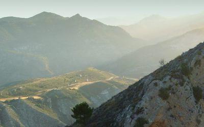View from the main summit of Boca de la Pesca, Sierra Nevada, Spain