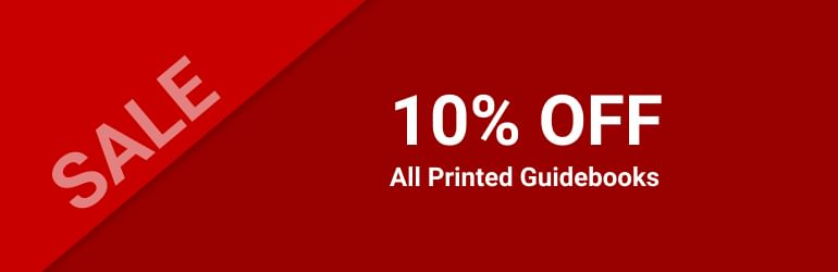 10% OFF • All Printed Guidebooks
