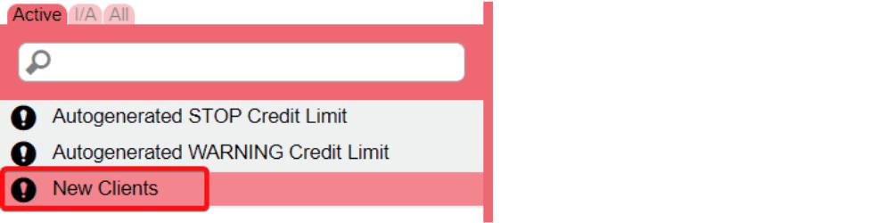 New custom credit limit