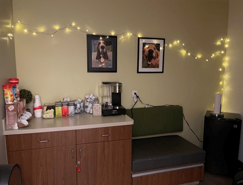Veterinary Hospital Relaxation Room