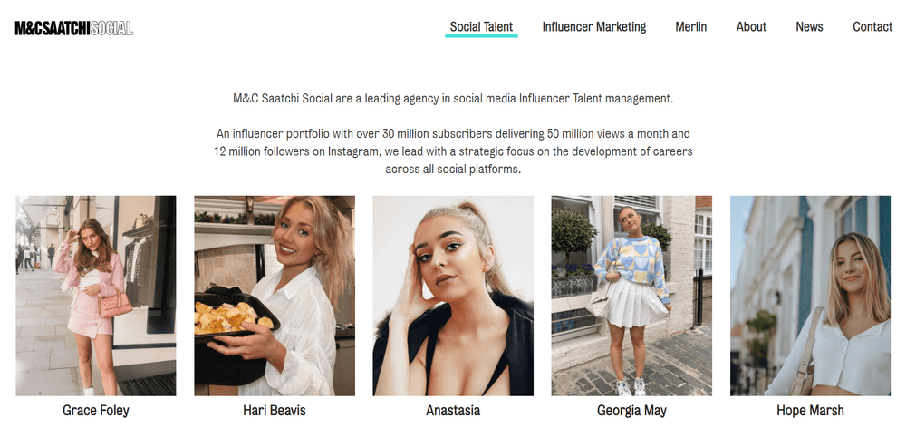 Top Influencer Talent Agency