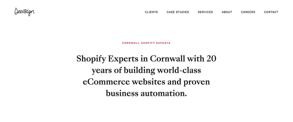 Cornwall Shopify App developers Dewsign