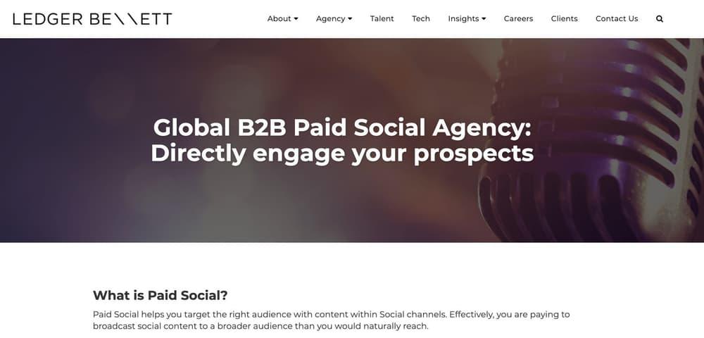 Facebook Advertising Agency For B2B Brands - Ledger Bennett
