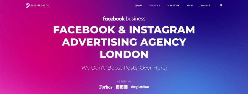 Facebook and Instagram advertising agency - Disturb Digital