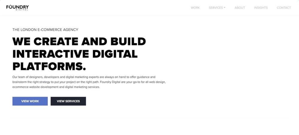 Foundry - eCommerce Design & Development Marketing Agency