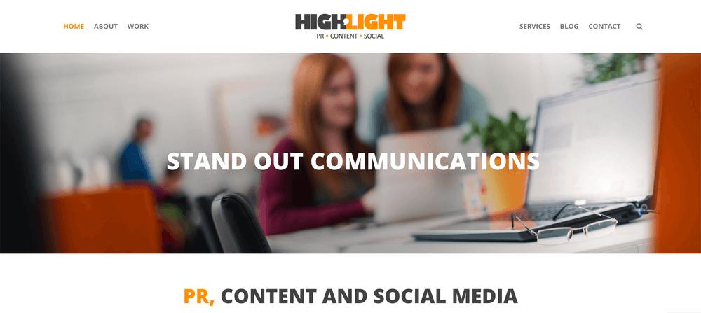 Highlight PR - PR, Content & Social Agency