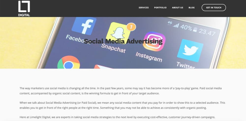 Limelight Digital - Facebook Ads Agency for small business