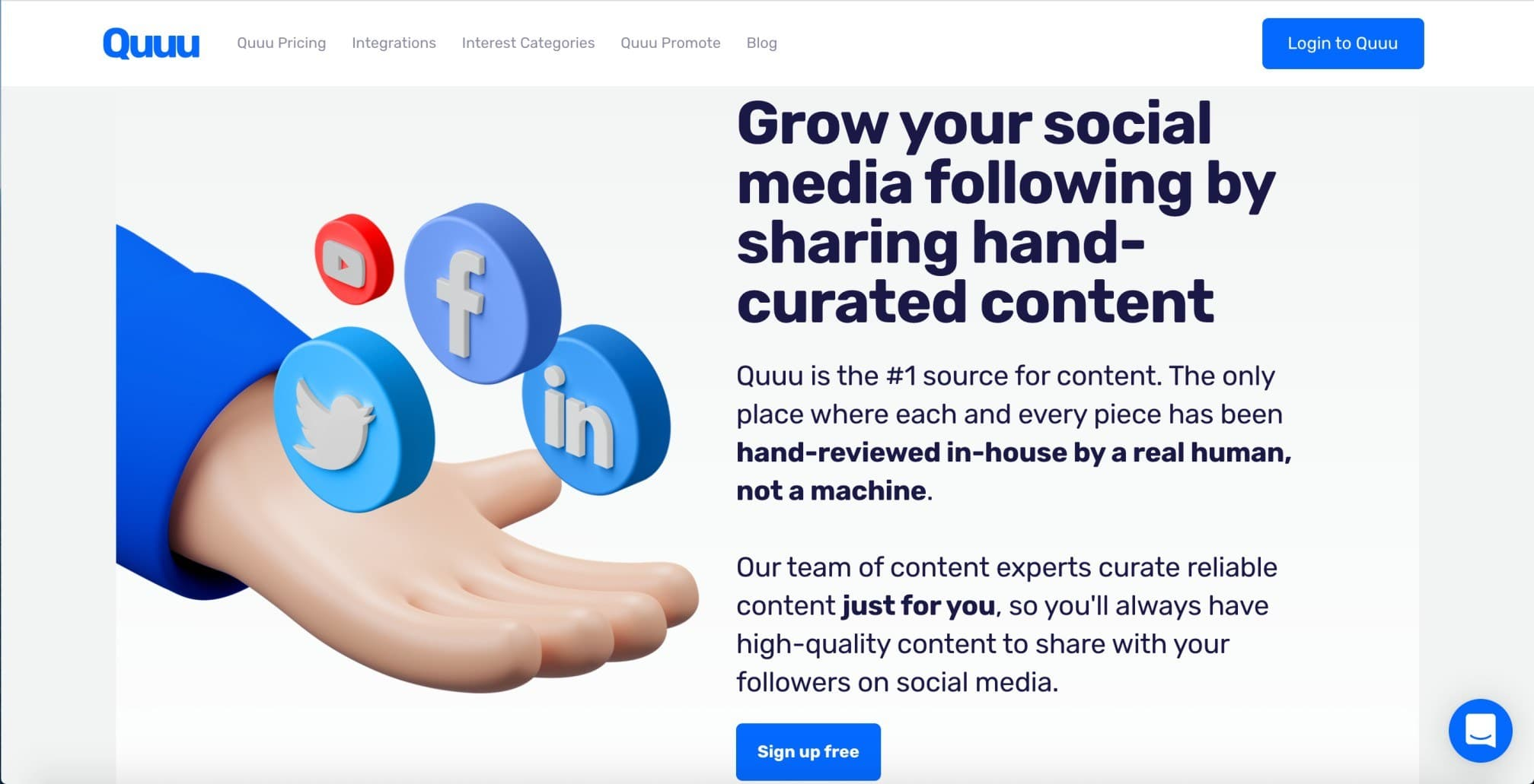 Quuu - Hand Curated Social Media Content