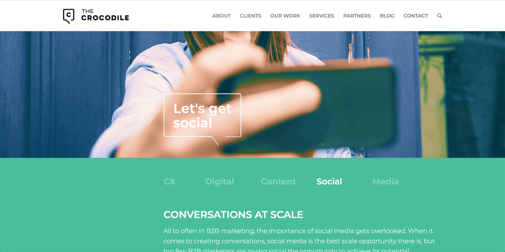 The Croc - One of the best B2B Social Agencies