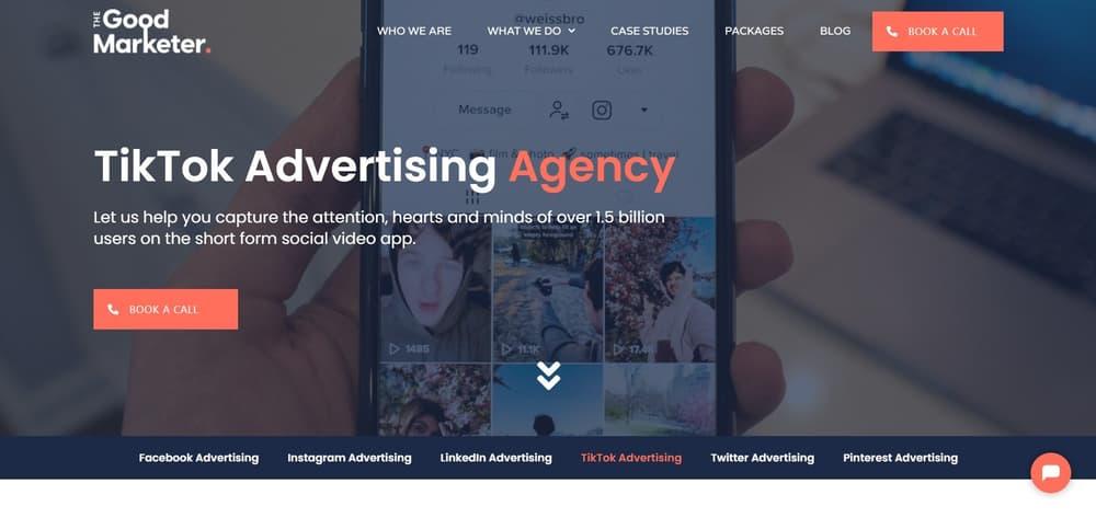 TikTok Advertising Agency - The Good Marketer