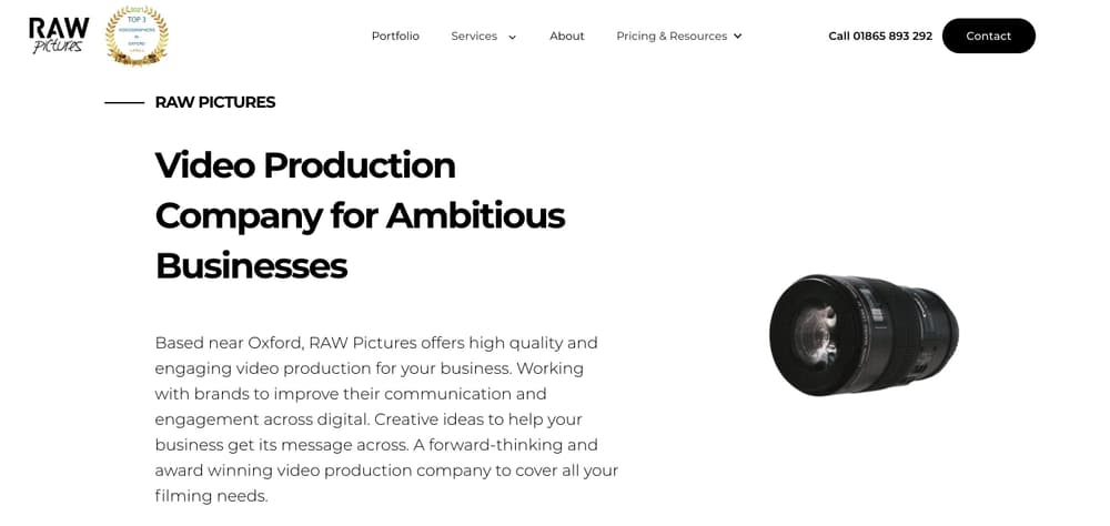 Video Marketing Agency in Oxford - RAW Pictures