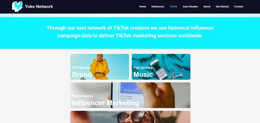 Yoke Network - TikTok Creator Agency UK