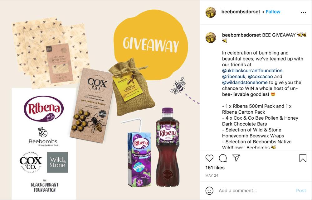 Instagram Giveaway Example
