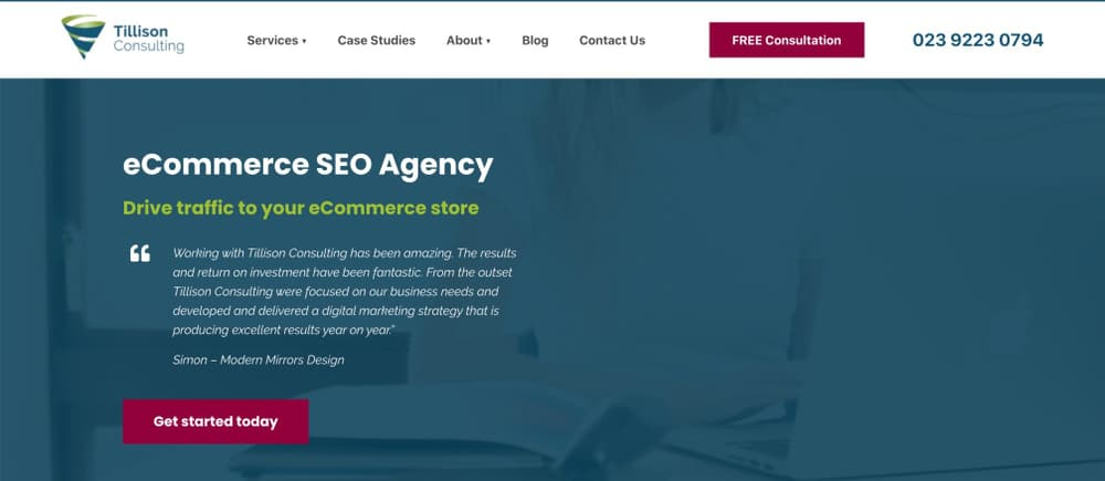 eCommerce SEO Agency - Tillison Consulting