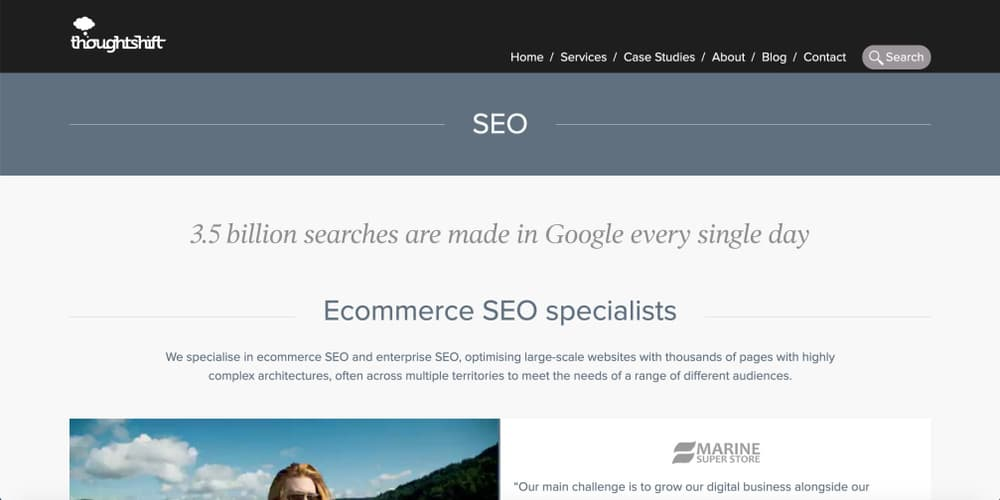 eCommerce SEO Specialists - Thoughtshift
