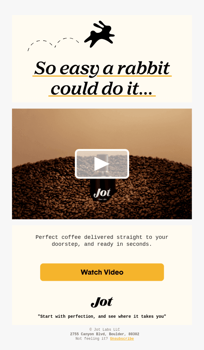 Video email marketing examples