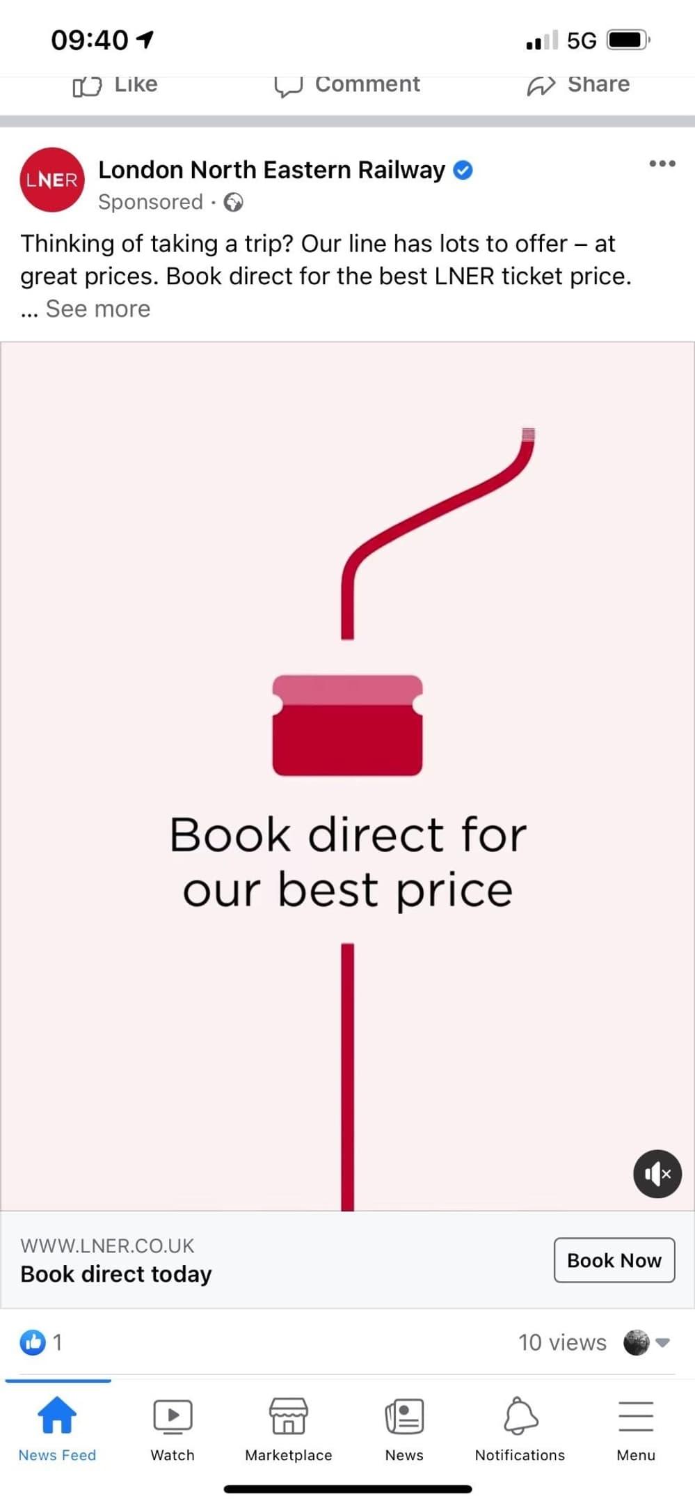 Retargeting ad examples travel brand