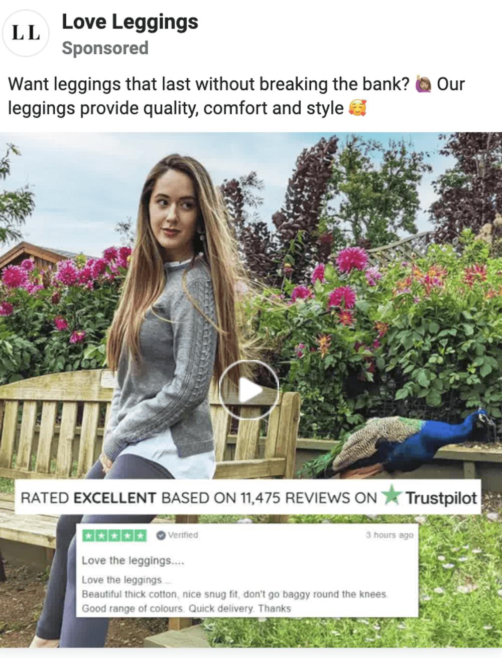 Facebook video ads fashion brand