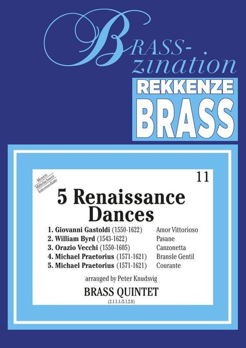 5 Renaissance Dances For Brass Quintet Ens16