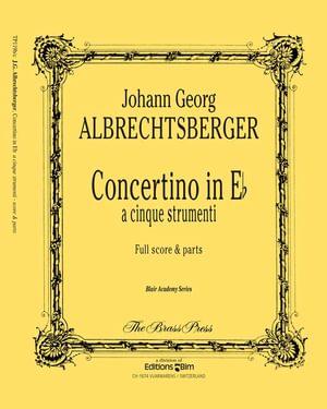 Albrechtsberger Johann Georg Concertino Tp119