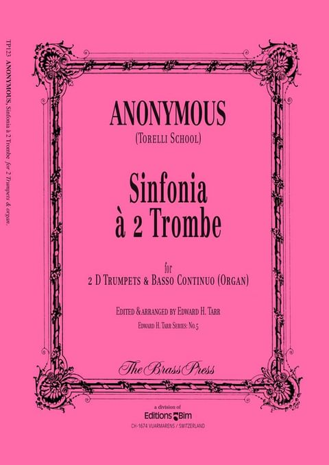 Anonymous Sinfonia A 2 Trombe Tp123