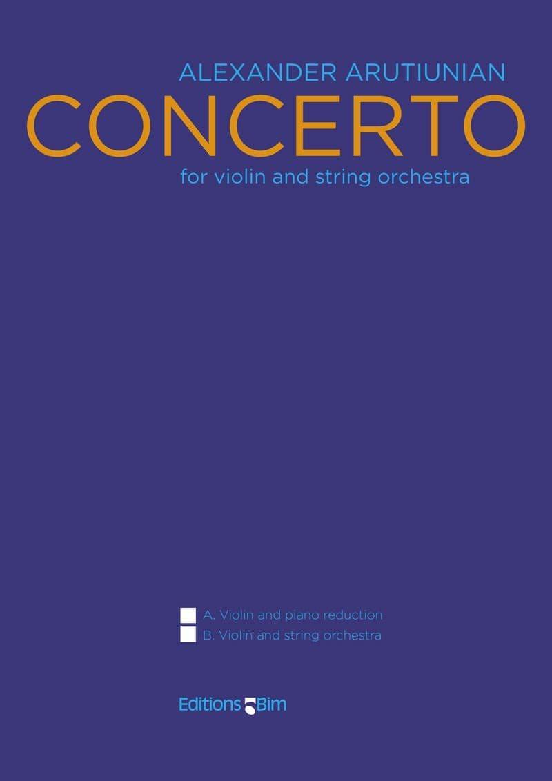 Arutiunian Alexander Violin Concerto Vn1