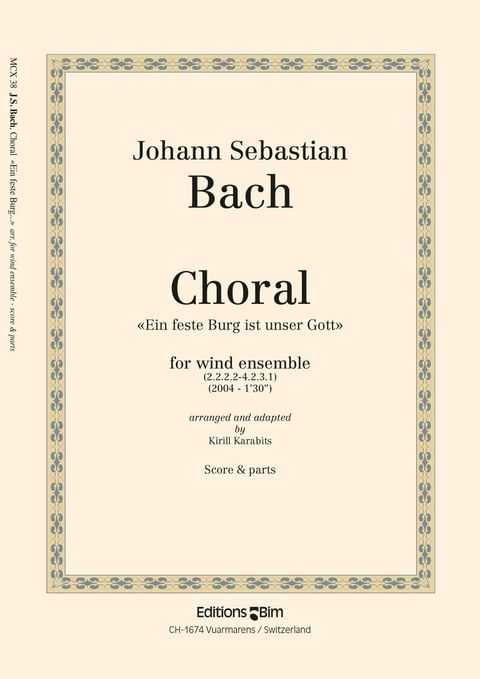 Bach Johann Sebastian Choral Mcx38