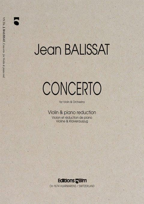 Balissat Jean Concerto Violin Vn20