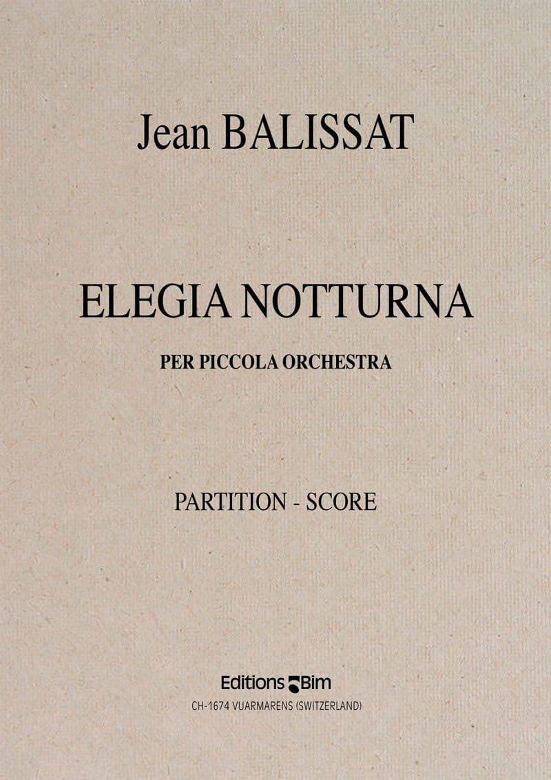 Balissat Jean Elegia Notturna Orchestra Orch30