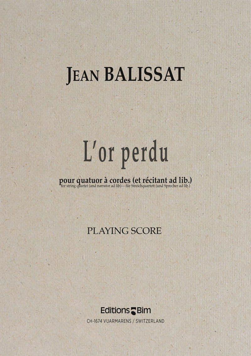 Balissat Jean L'or perdu Qc4