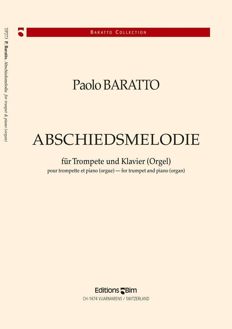 Baratto Paolo Abschiedsmelodie Tp273