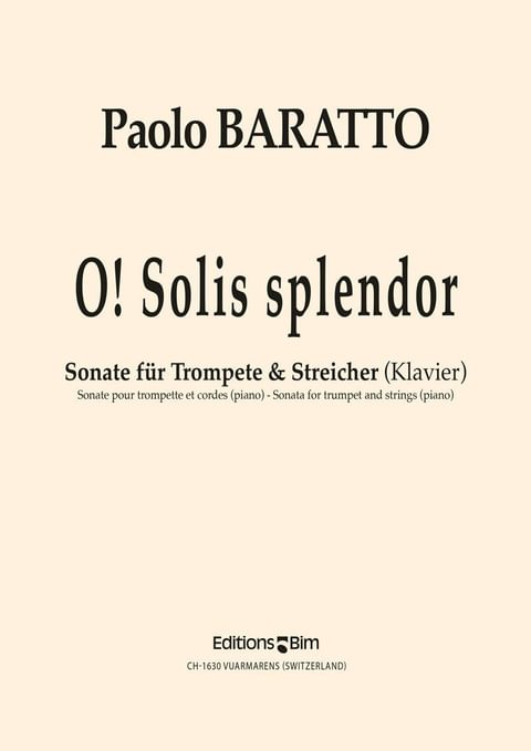 Baratto Paolo O Solis Splendor Tp67