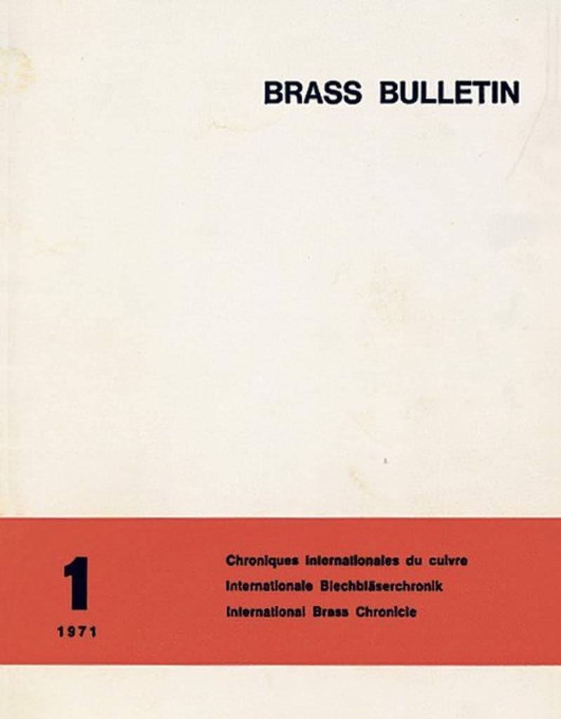 Brass Bulletin No 1 1971