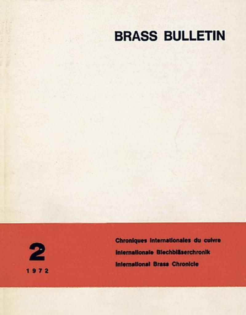 Brass Bulletin No 2 1972