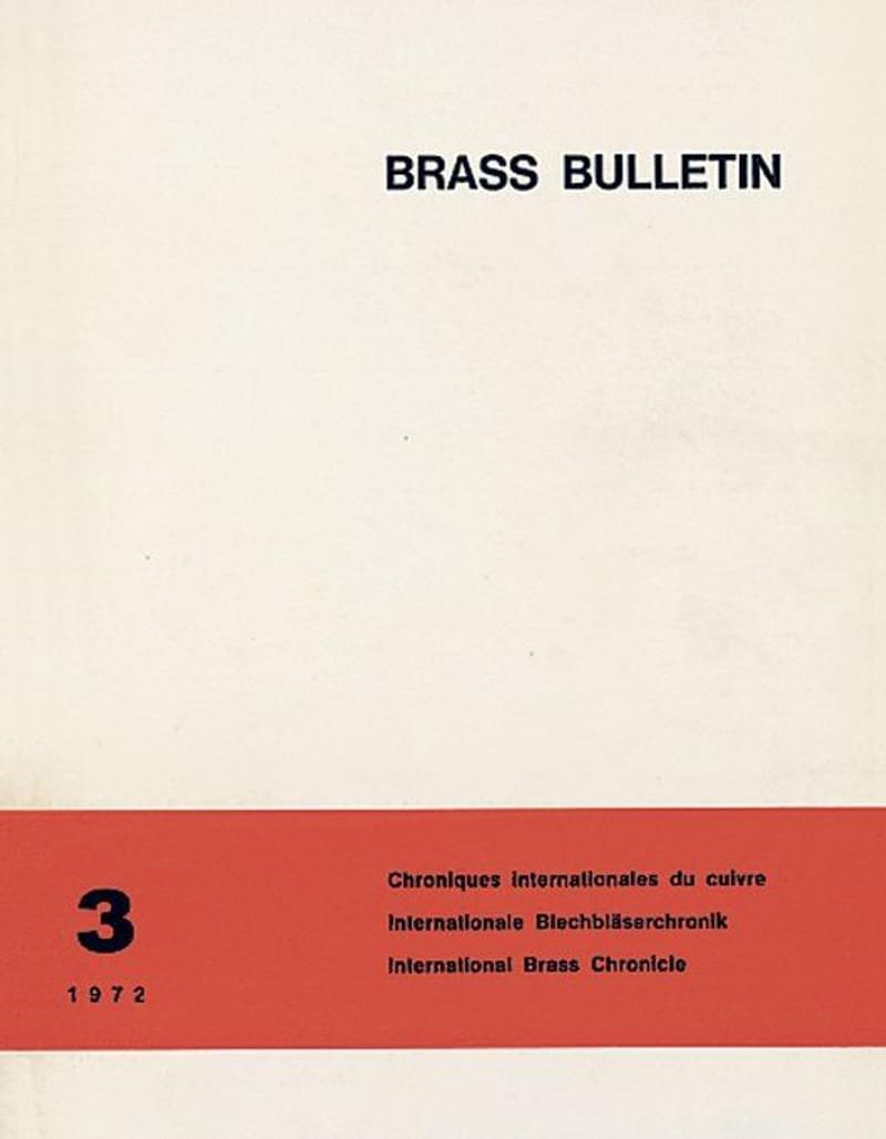Brass Bulletin No 3 1972