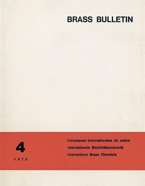 Brass Bulletin No 4 1973