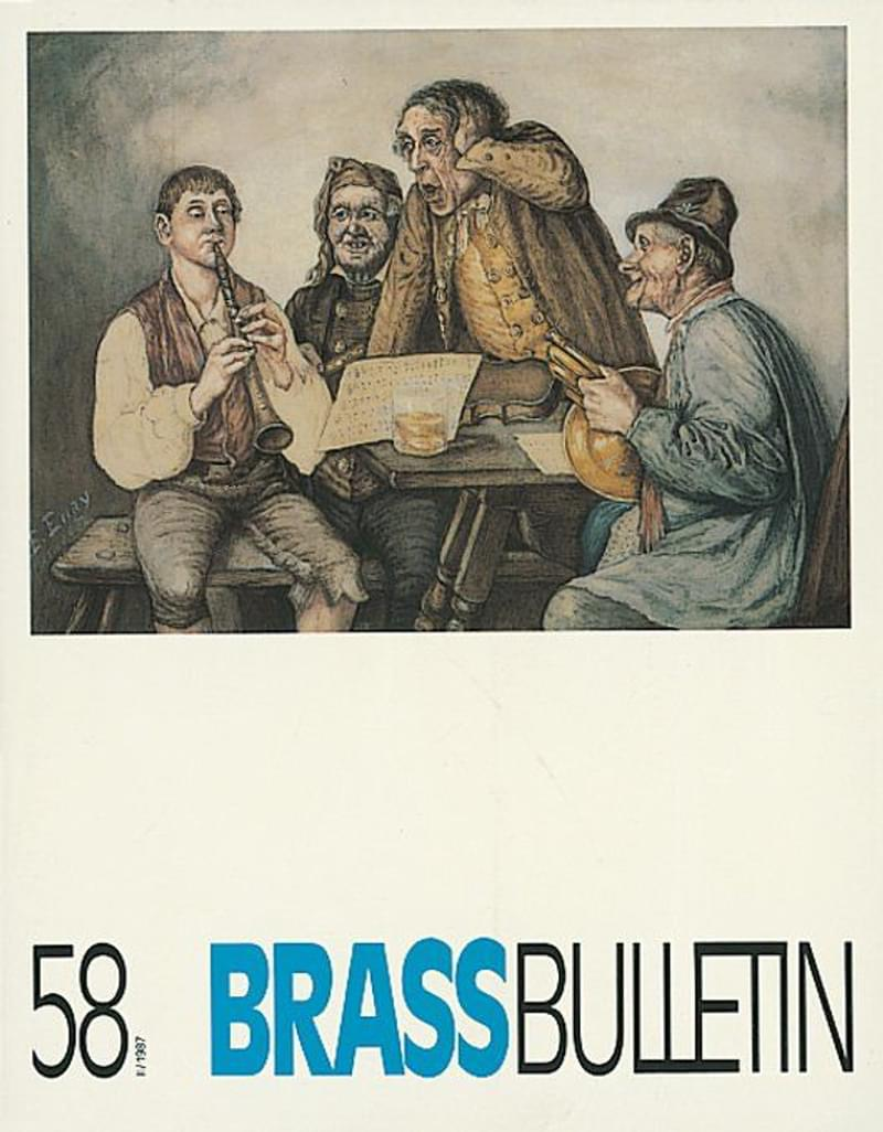 Brass Bulletin No 58 1987