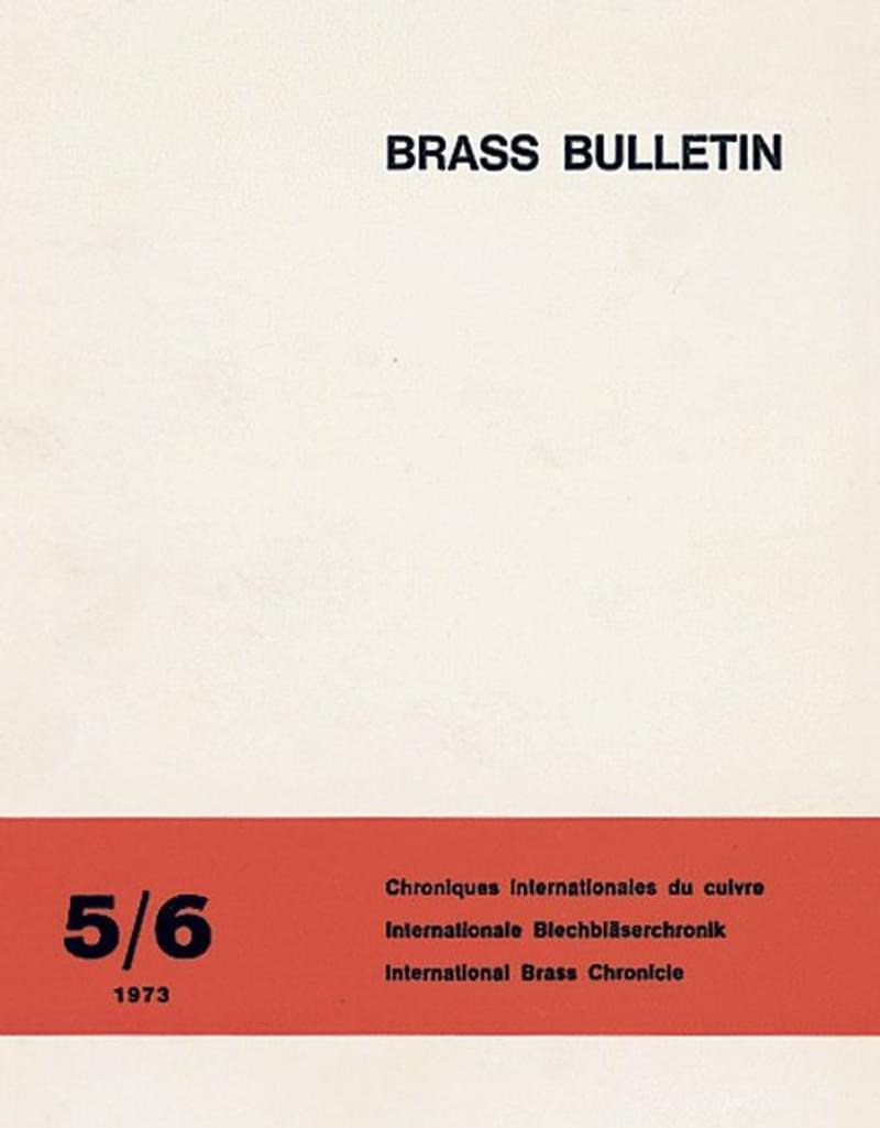 Brass Bulletin No 5 6 1973