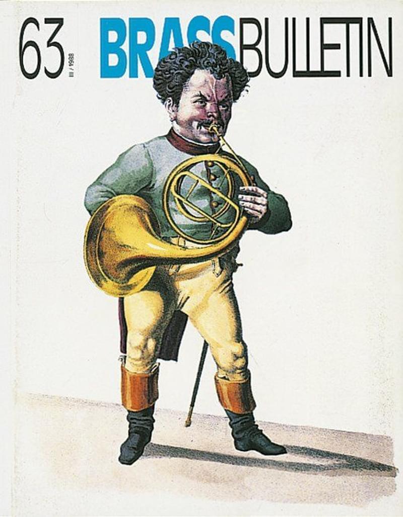 Brass Bulletin No 63 1988