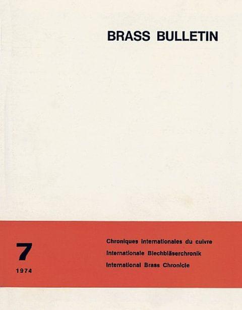 Brass Bulletin No 7 1974