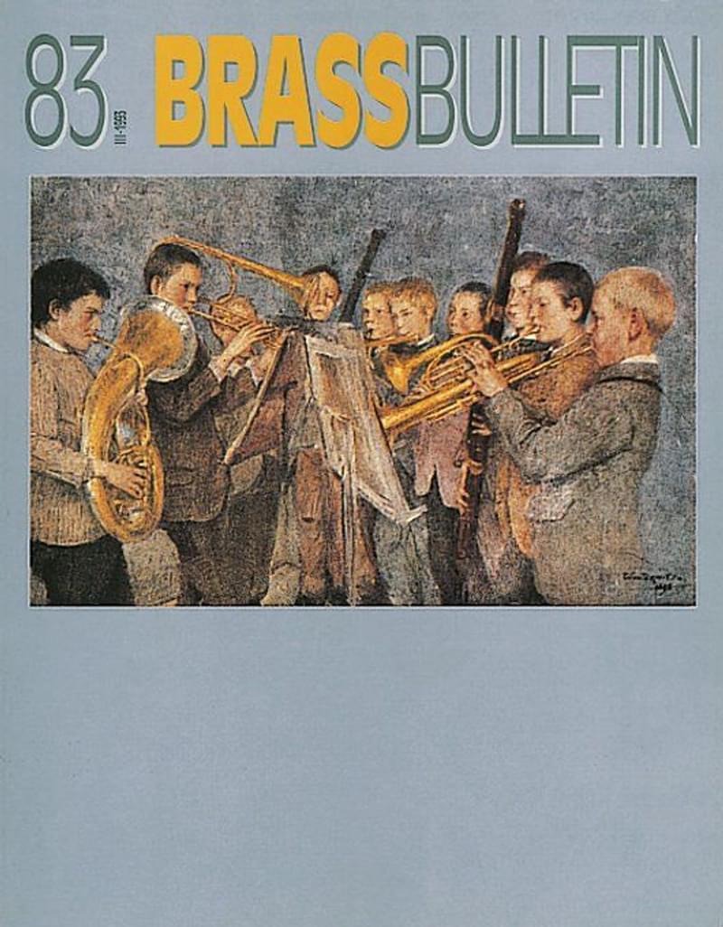 Brass Bulletin No 83 1993