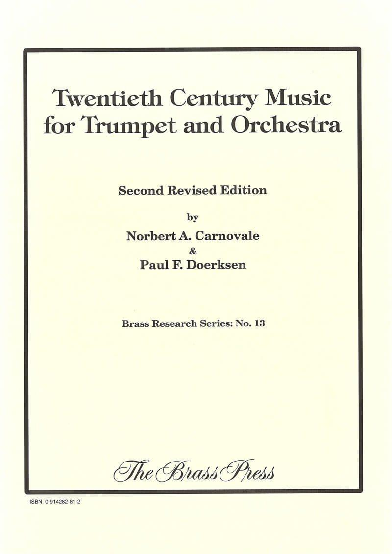 Carnovale Doerksen 20Th Century Music For Trumpet And Orchestra Br P5