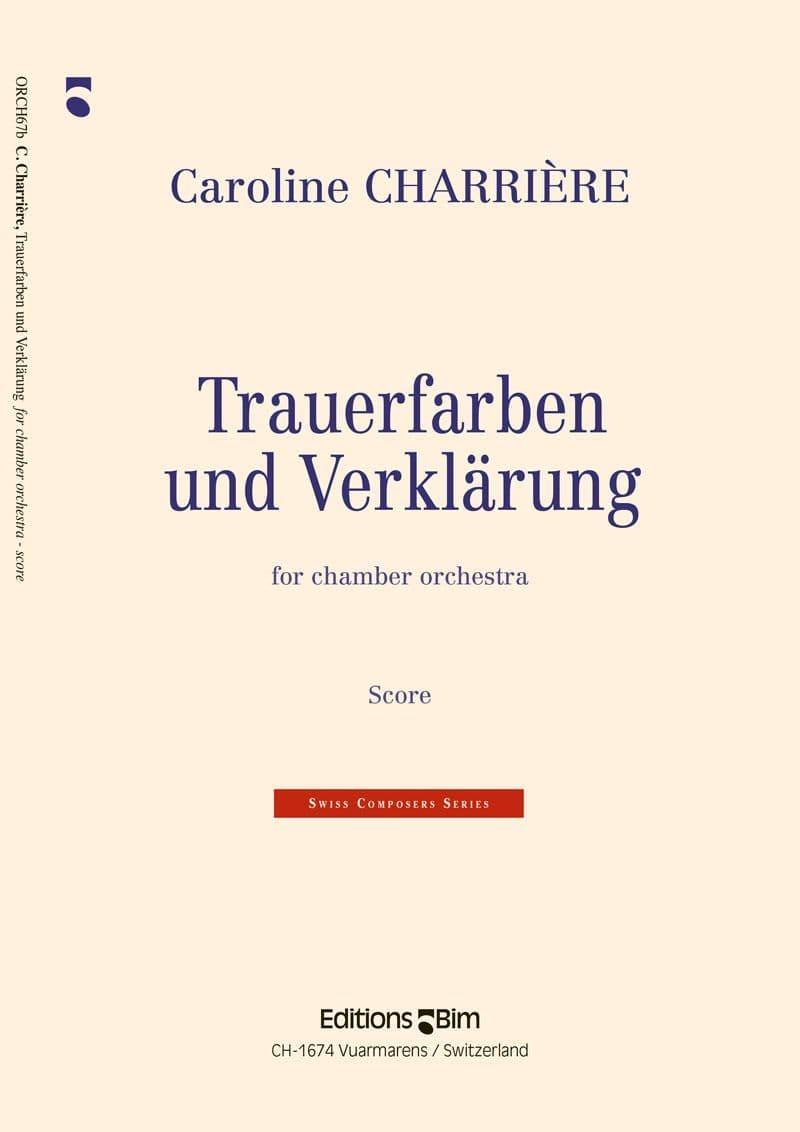 Charriere Caroline Trauerfarben Und Verkaerung Orch67